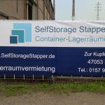 Selfstorage Stapper - Container - Lagerräume - Duisburg - Banner, Self-Storage, Self Storage, Lagerraumvermietung